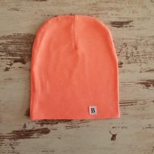 Dvojvrstvová čiapka - neónovo oranžová - posledný kus - M