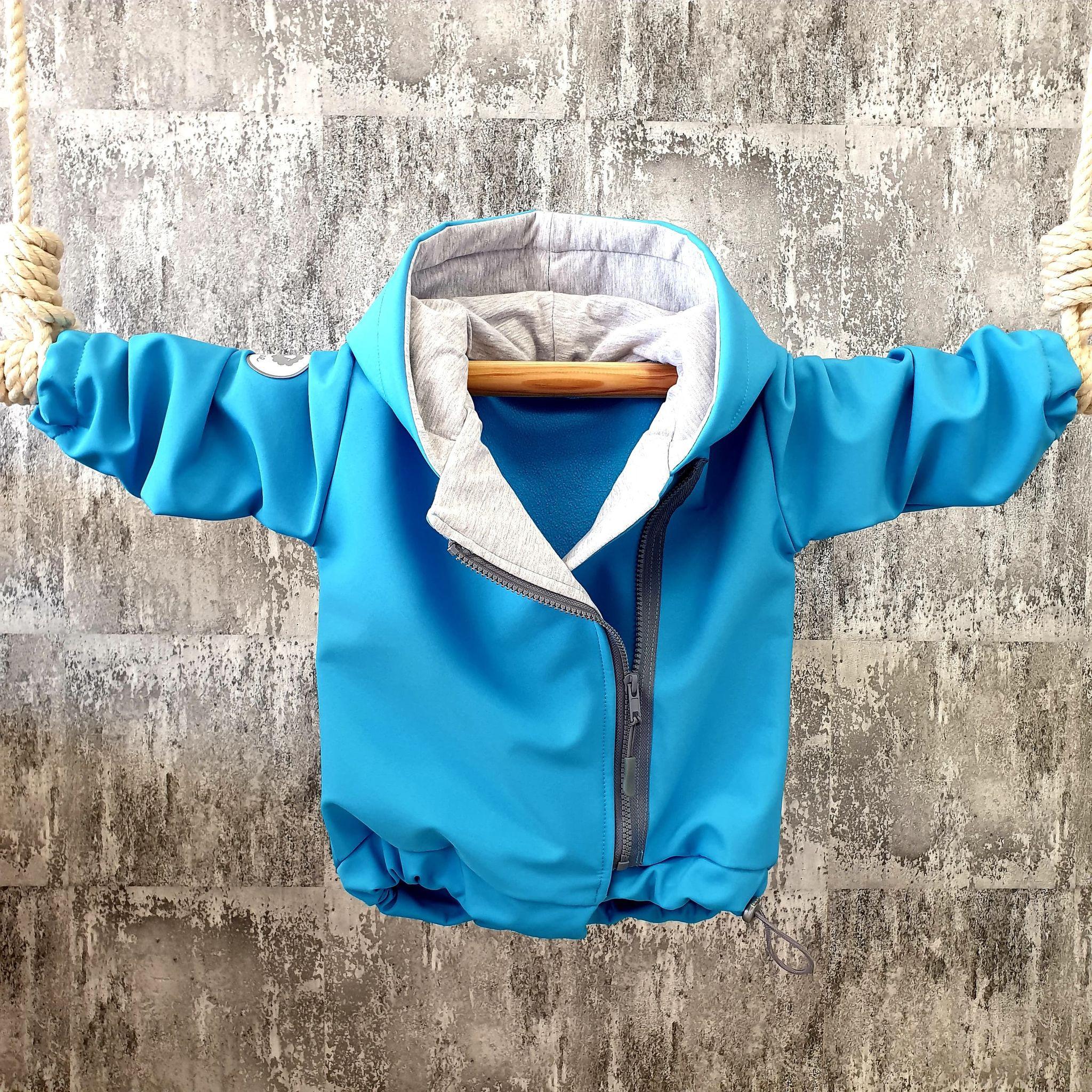 Softshellová bundička na zips - modrá