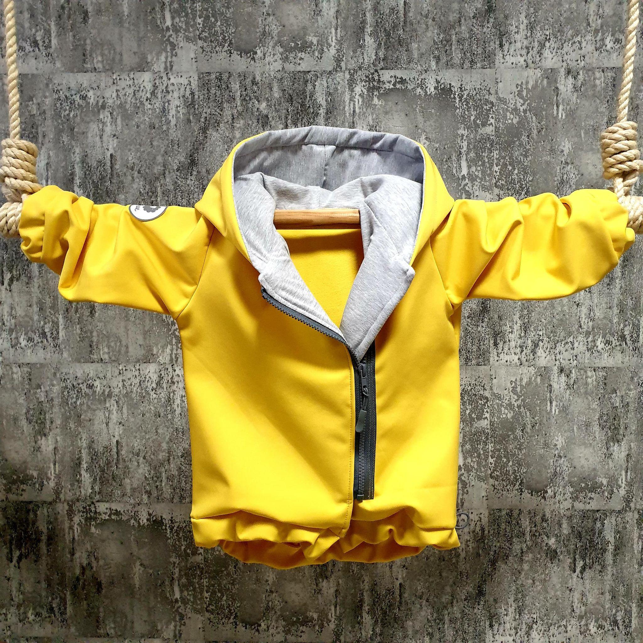 Softshellová bundička na zips - žltá