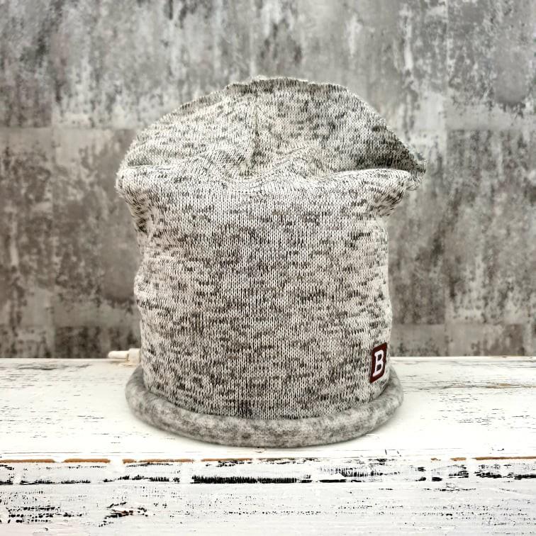 Jednovrstvová zateplená čiapočka zo svetroviny - light grey