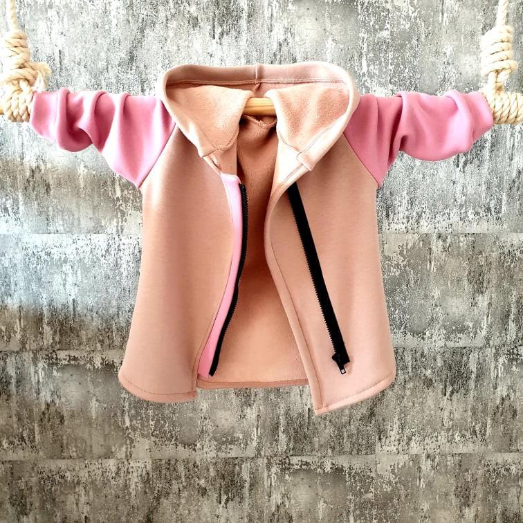 Zateplený predĺžený kabátik na zips - beige