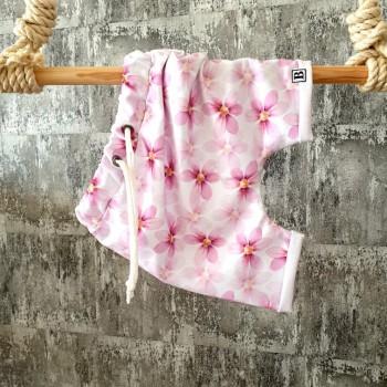 Kraťasky violets - bielo-ružové