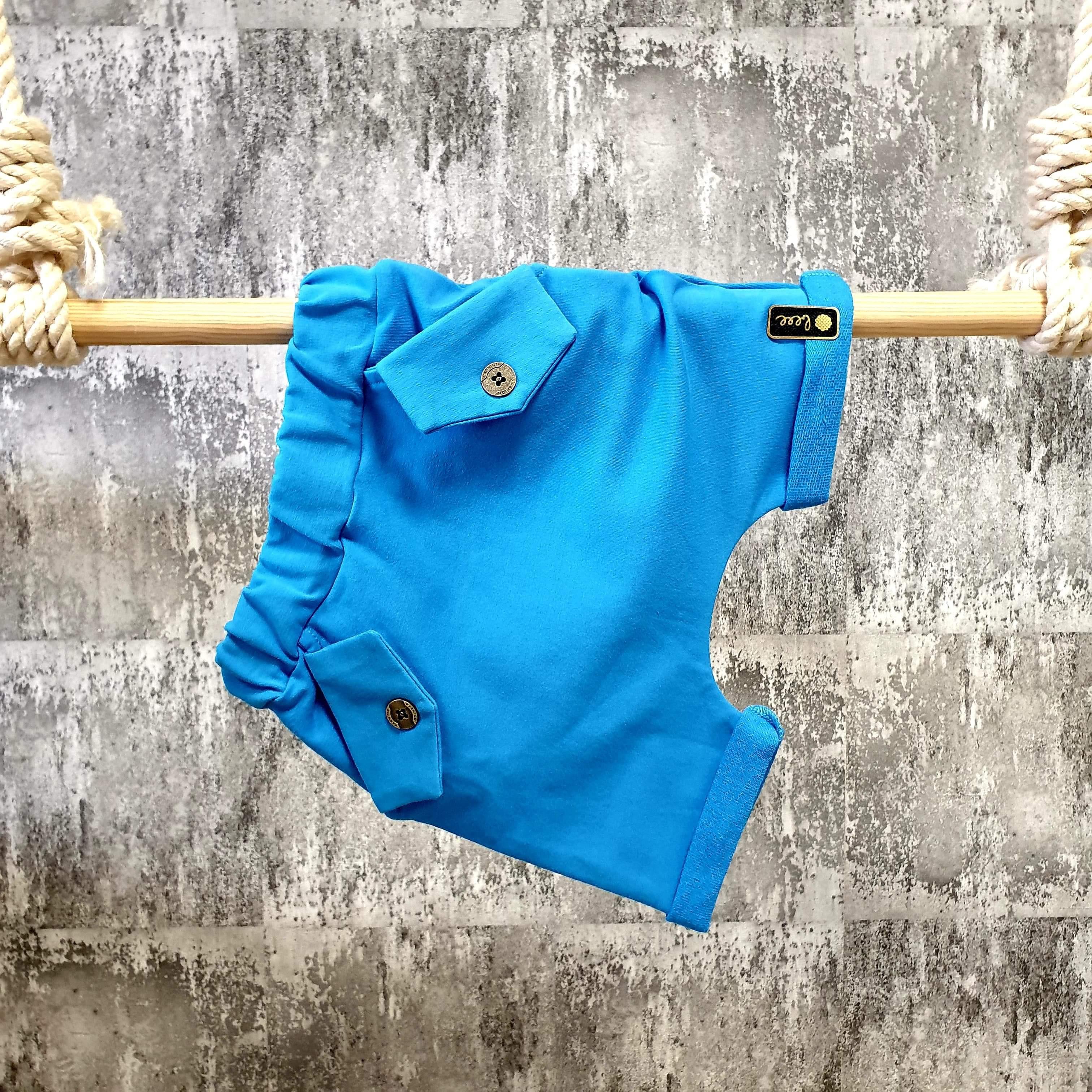 Kraťasky s vreckami - modré
