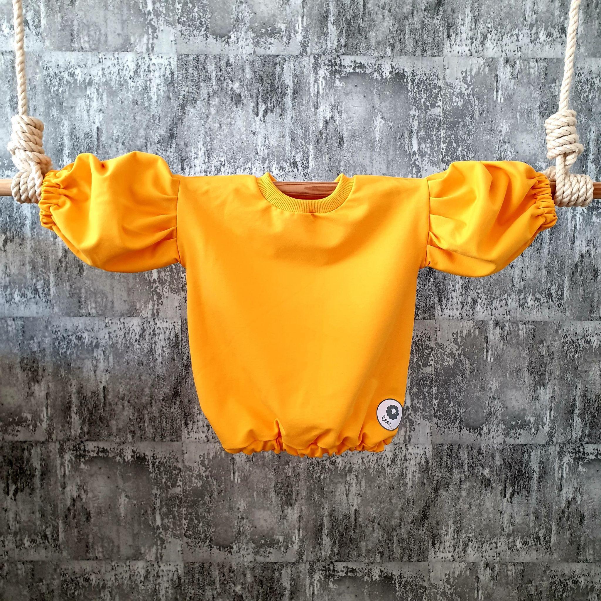Oversize mikinka so širokými rukávmi- žltá