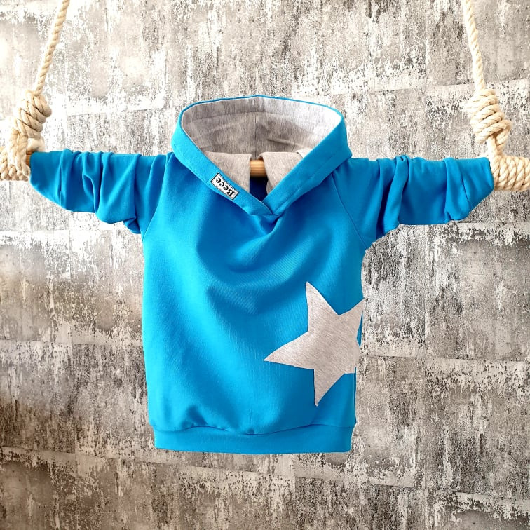 Mikina s hviezdičkou - modrá