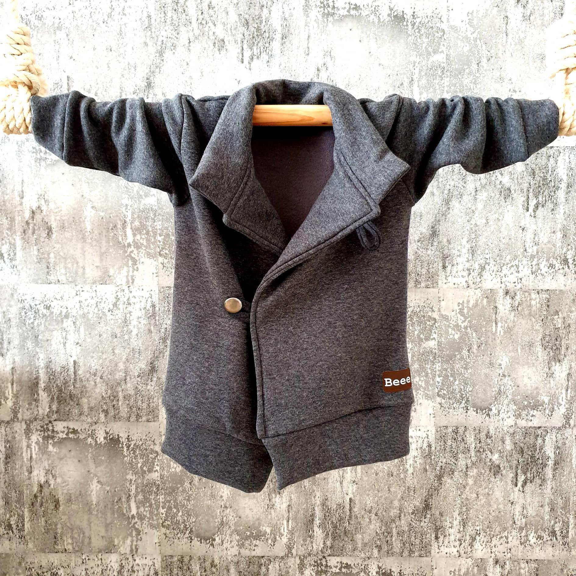 Kabátik so stojačikom - sivý