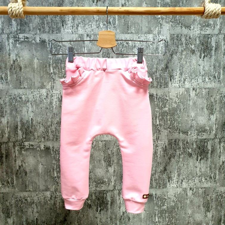 Pudláčiky s volánikovými vreckami - baby pink