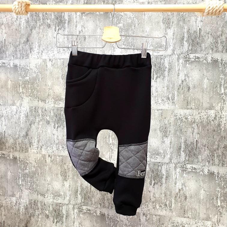 Zateplené pudláčiky so záplatami - čierne