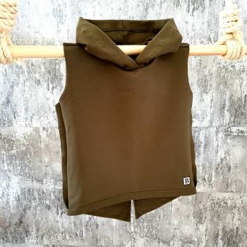 Tričko s kapuckou - khaki