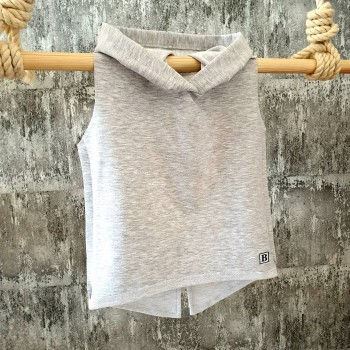 Tričko s kapuckou - sivé