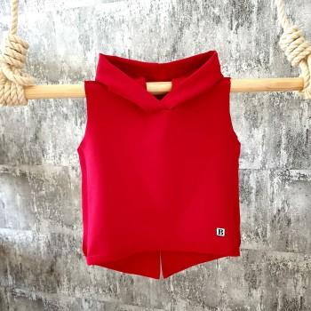 Tričko s kapuckou - červené