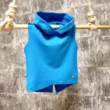Tričko s kapuckou - modré