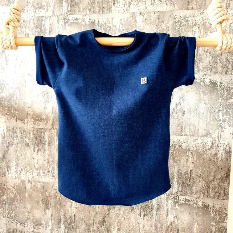 Úpletové tričko - jeans