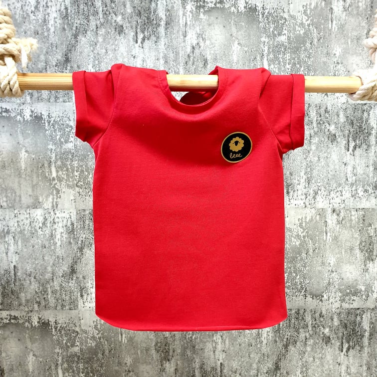 Úpletové tričko - červené
