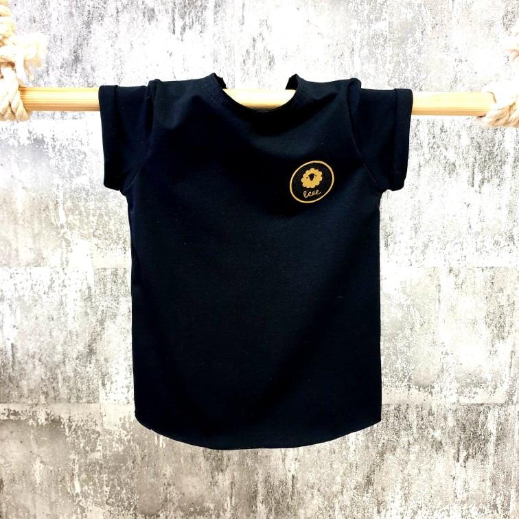 Úpletové tričko - čierne