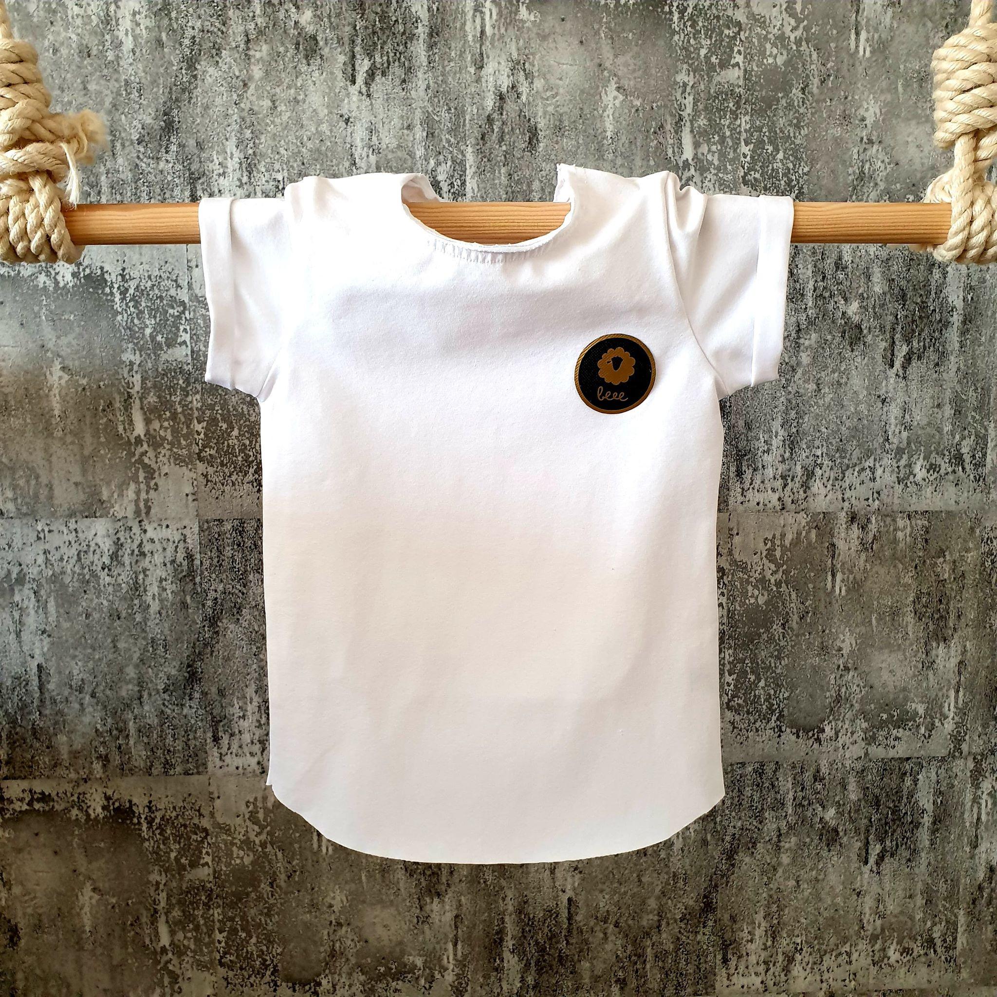 Úpletové tričko - biele