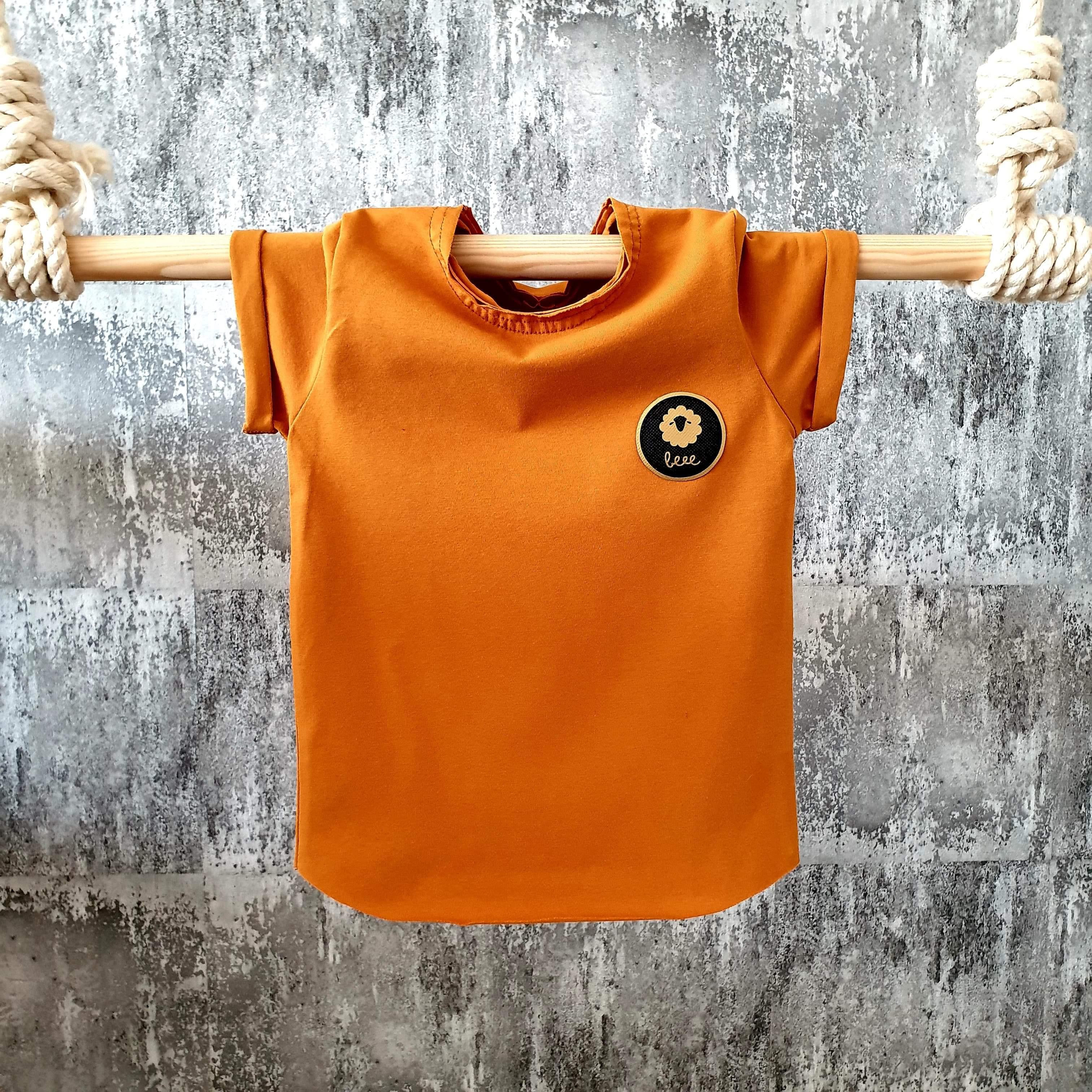 Úpletové tričko - horčicové