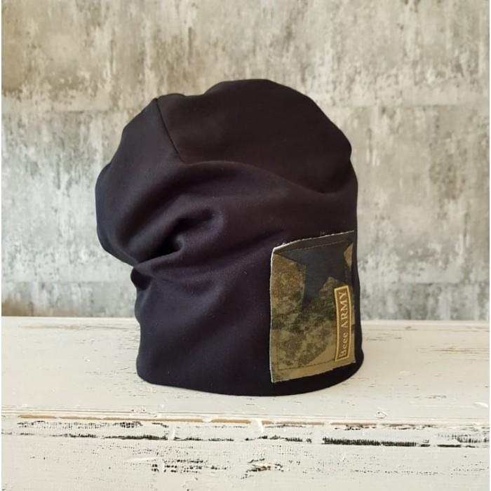Dvojvrstvová Beee Army čiapka - čierna